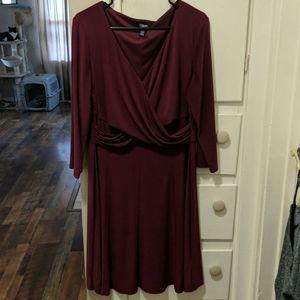 2for$20 Chaps | A-line faux wrap dress